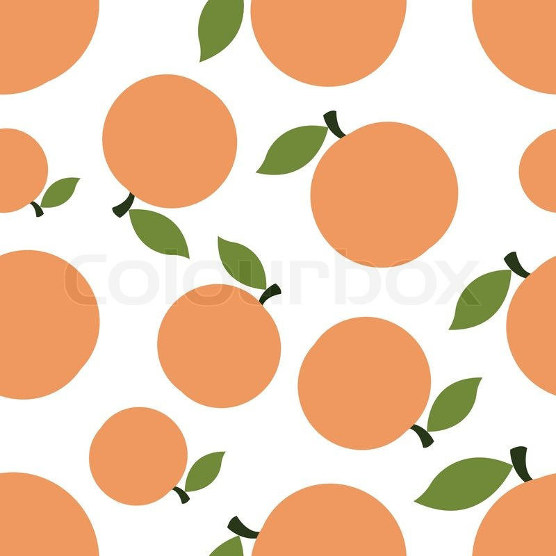 Seamless Texture Of Colored Silhouettes Peaches On A White