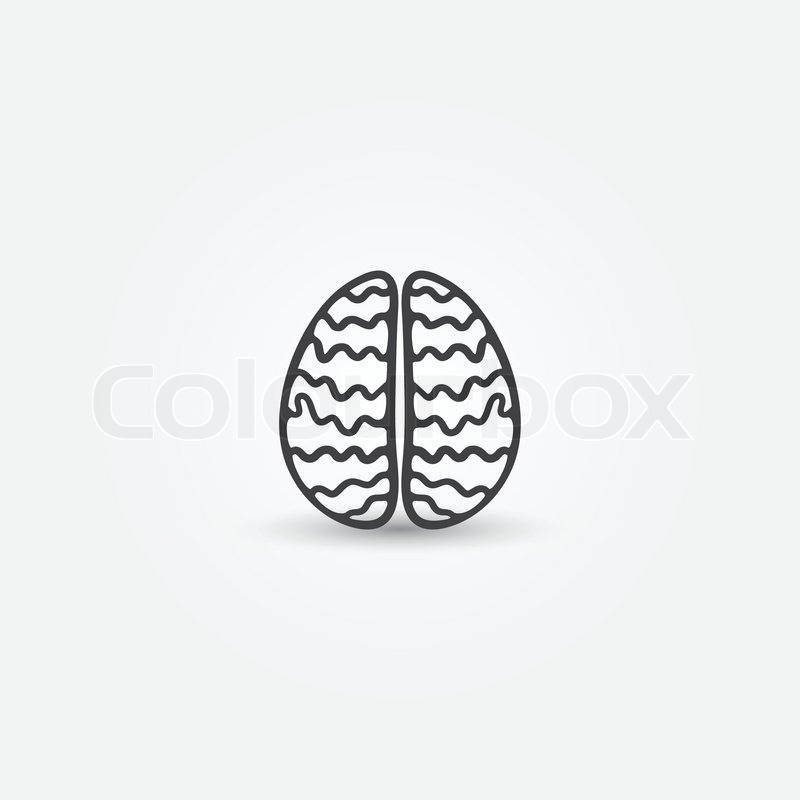 Abstract Simple Brain Vector Icon Nice Symbol For Business Stock