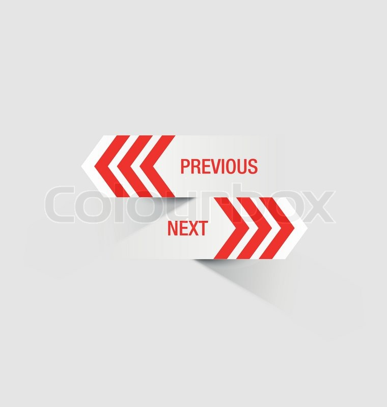 Previous Next Previous And Next Navigation Buttons Suitable For Custom Web Design or