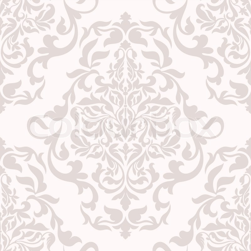 Damask Beautiful Background With Rich Old Style Luxury Ornamentation Pink Fashioned Seamless Pattern Royal Vector Wallpaper Floral Wrapping Paper
