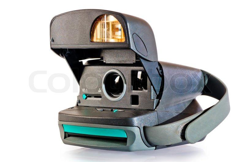 kamera sofort drucken von fotos auf wei em hintergrund stockfoto colourbox. Black Bedroom Furniture Sets. Home Design Ideas