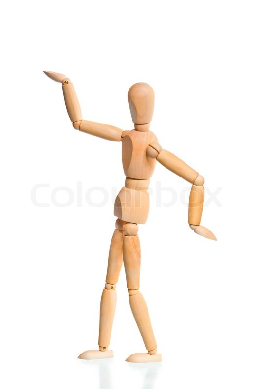 wooden dummy in the traditional egyptian pose stock photo colourbox