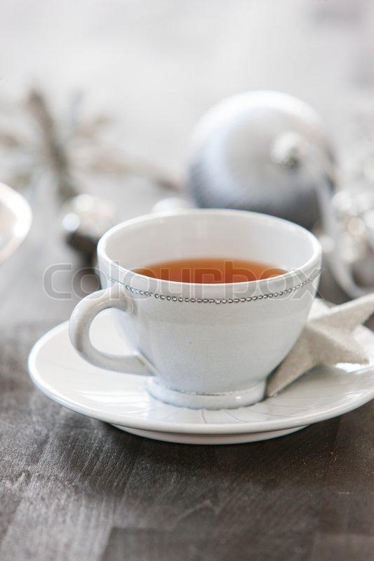 a cup of christmas tea stock photo colourbox - A Cup Of Christmas Tea