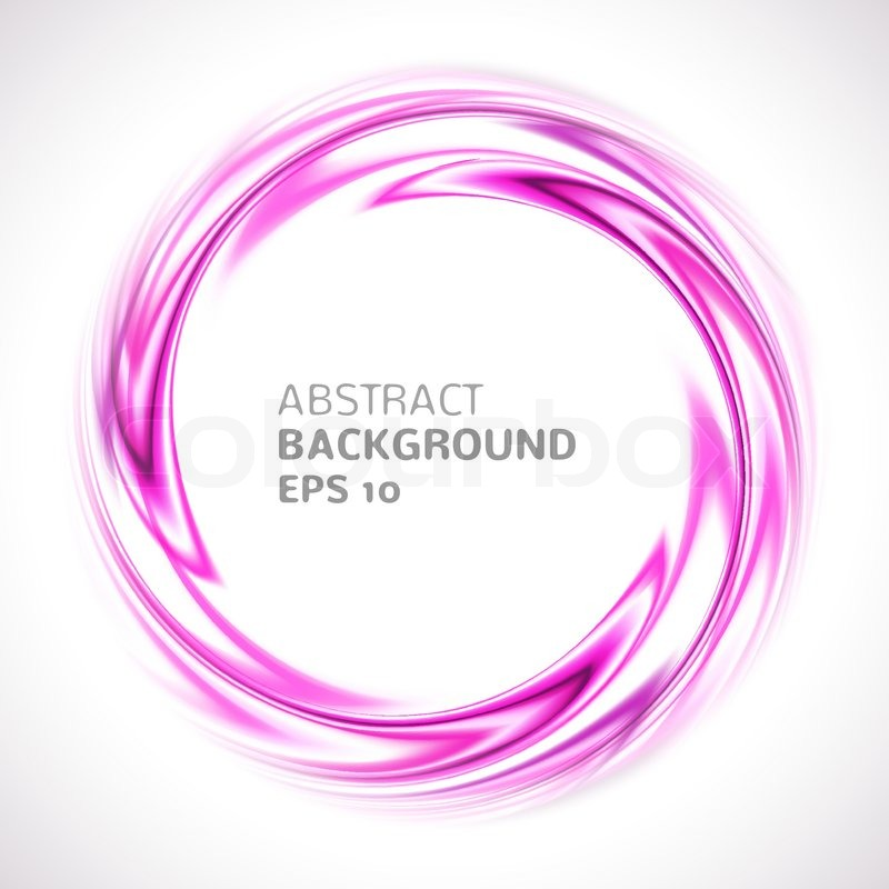 Abstract Purple And Pink Swirl Circle Stock Vector