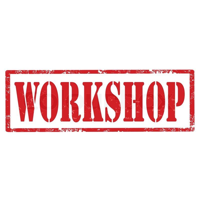Workshop Stempel Vektorgrafik Colourbox