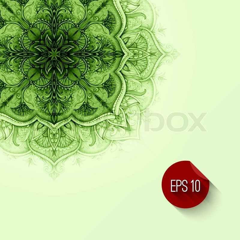 Retro vintage wedding greeting card vector background card or card or invitation vintage decorative elements hand drawn background floral ornament islam arabic indian ottoman motifs green background vector stopboris Images
