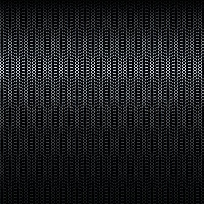 Seamless Vector Black Metal Texture Stock Vector
