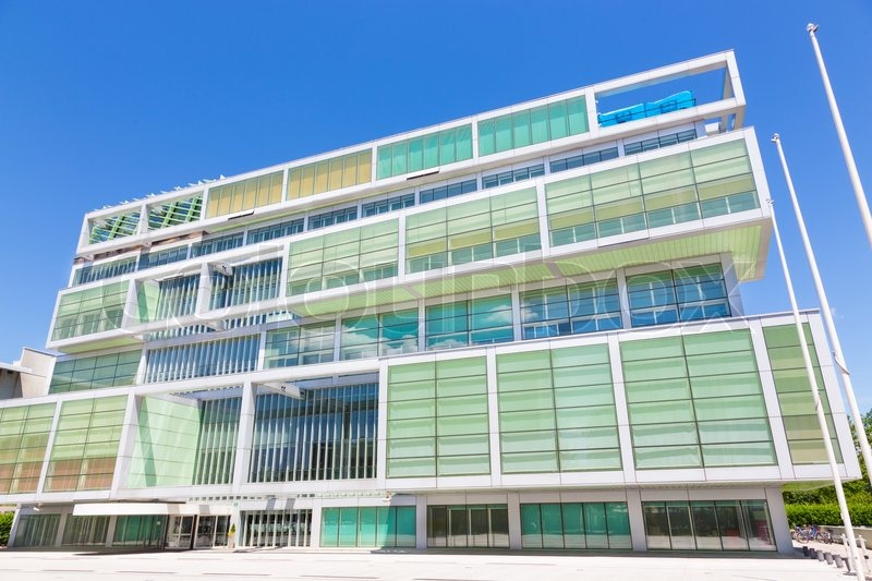 Modern building of Slovenian Chamber of Commerce in Ljubljana, Slovenia, Europe, stock photo