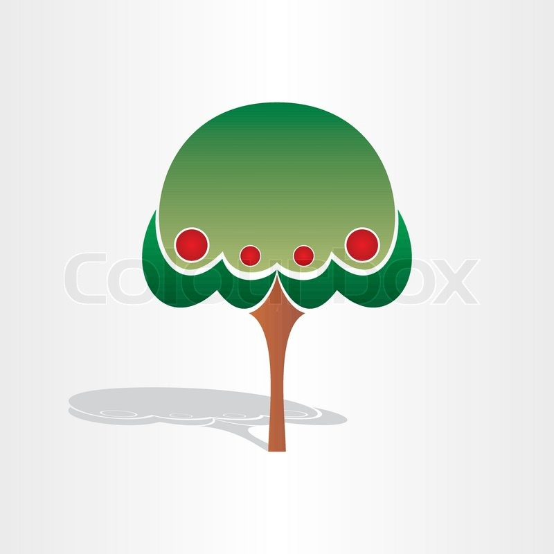 Family Tree Symbol Design Abstract Stylized Icon Stock Vector