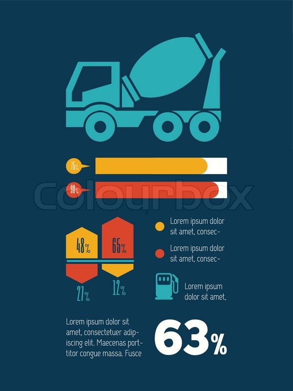 Transportation Flat Infographic Element. Vector Graphics, vector