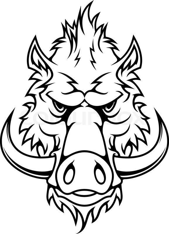 Boar Head Drawing | www.imgkid.com - The Image Kid Has It!