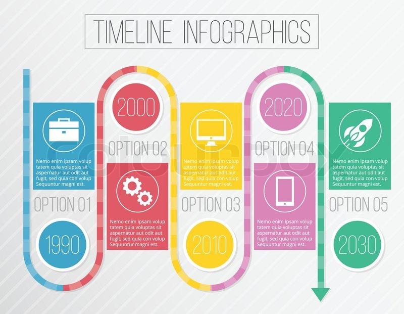 Creative infographic timeline
