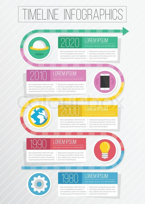 vector timeline infographics  creative
