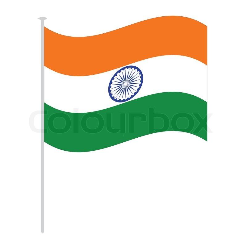 India Flag Isolated On White Orange ...