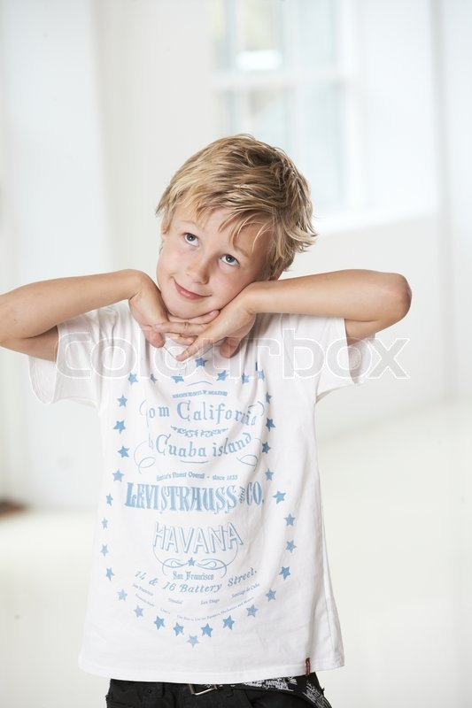 A Cute 10 Year Old Boy Stock Image Colourbox