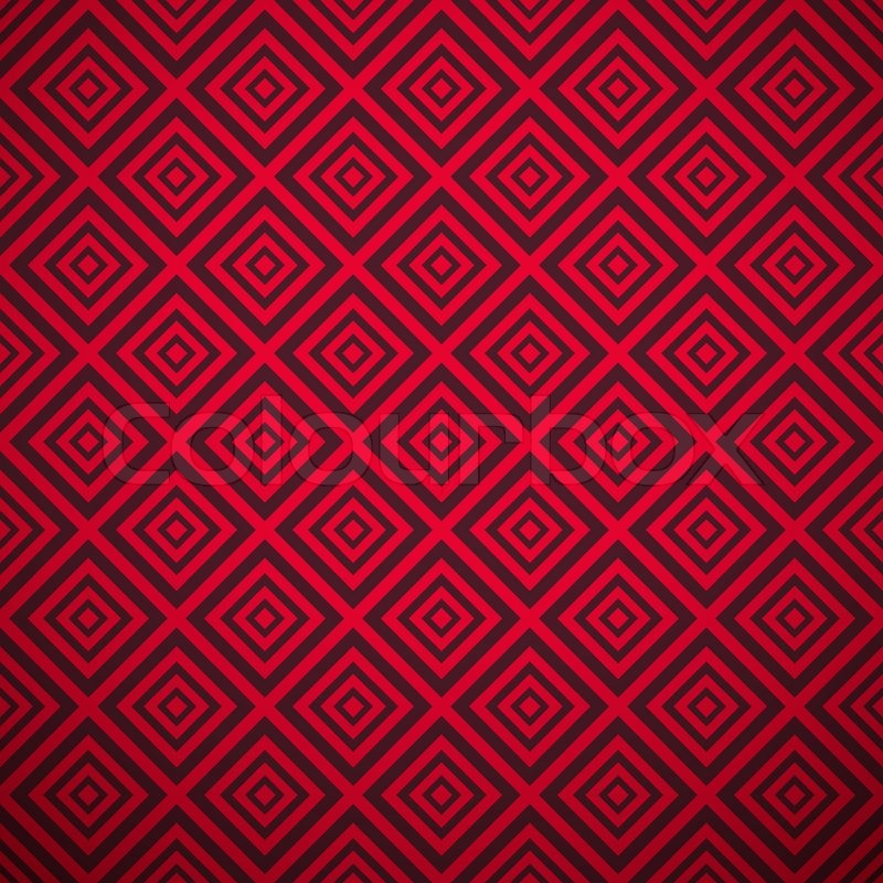 Passionate vector pattern (tiling). Hot red color. Endless texture ...