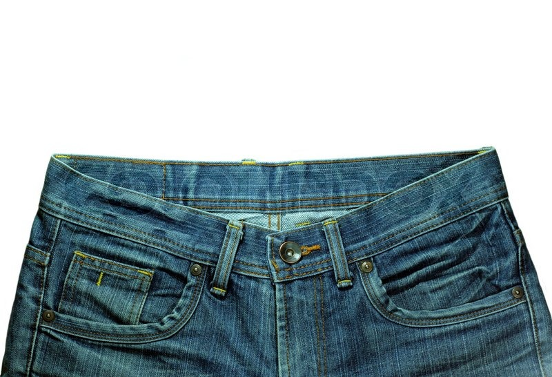Stock image of 'Denim Pocket Closeup ; texture background of jeans and pockets'