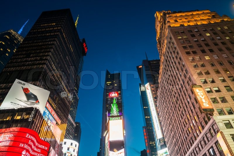 NEW YORK, USA - DECEMBER 20, 2013: Times Square in Downtown Manhattan, stock photo