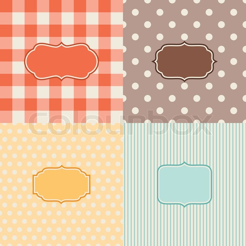 Set of four patterned backgrounds with frames. | Stock Vector ...