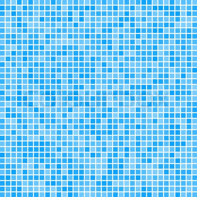 abstract pixel mosaic blue gradient background | stock vector