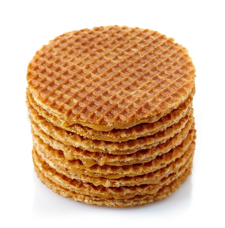 Stack Of Dutch Waffles With Caramel Stock Image Colourbox