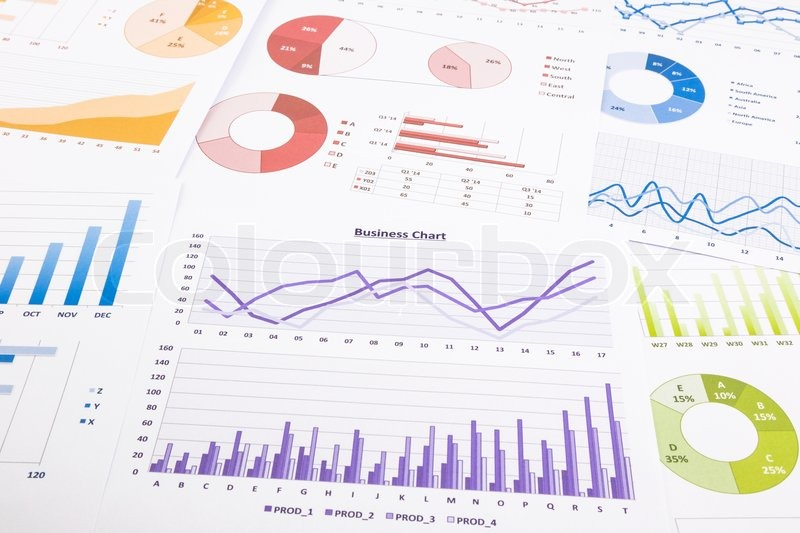 Colorful Graphs Data Analysis Marketing Research And Annual Report