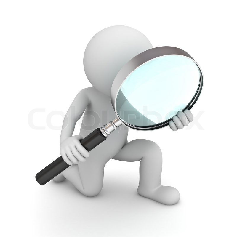 3d man holding magnifying glass isolated over white background stock photo colourbox discovery school clip art gallery discovery school clipart