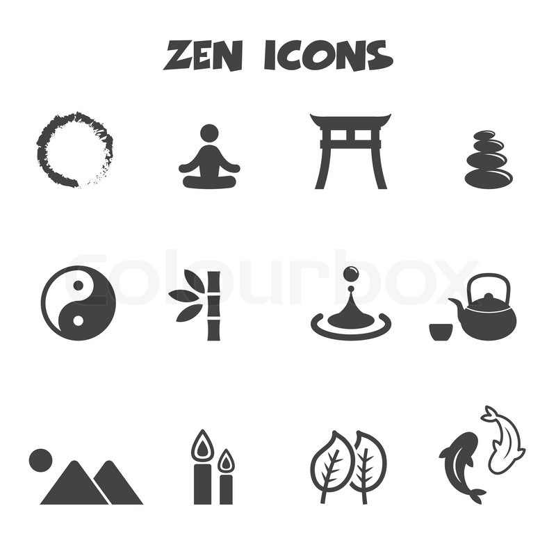 Zen Icons Mono Vector Symbols Stock Vector Colourbox