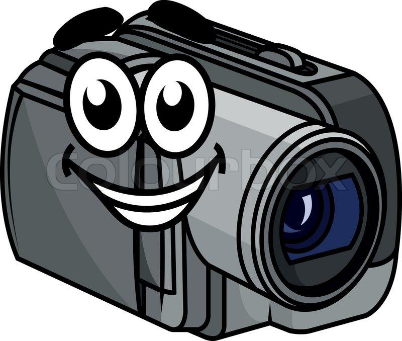 Happy Gray Colored Cartoon Video   Stock Vector -9436