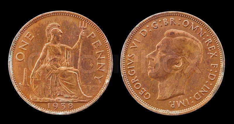 Benutzt Alte Münze Pfennig 1938 Britische Münzen Und Währung