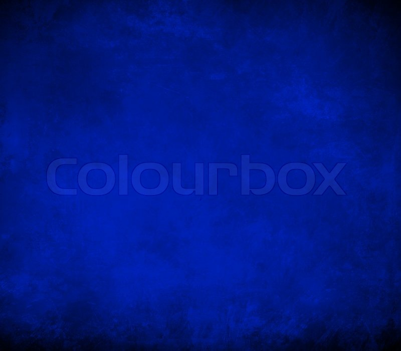 Royal Blue Background Black Border Cool Color Book Cover Vintage Grunge Texture Abstract Gradient Luxury Template