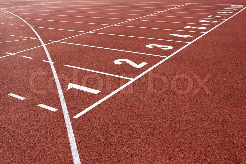 Stock image of 'Running Track Start'