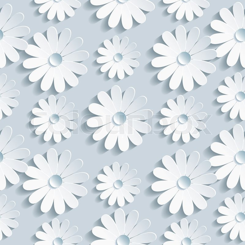 Beautiful Background Seamless Pattern Grey With White 3d