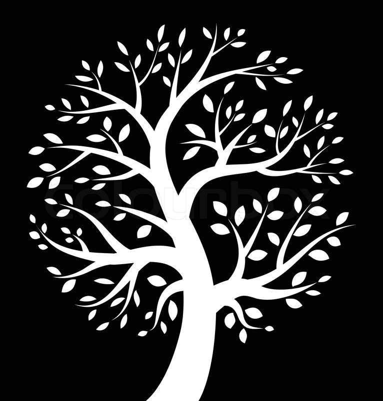white tree icon on black background  vector illustration valentine heart black and white clipart heart shape black and white clipart
