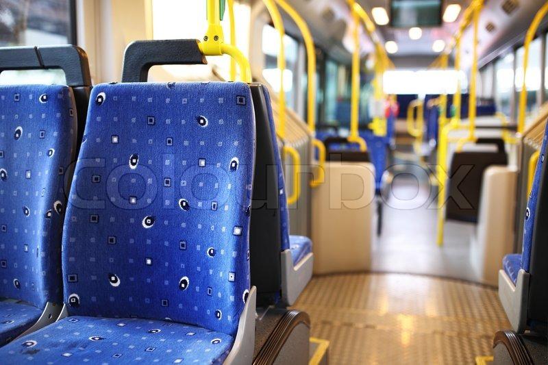 Route bus in Dubai, stock photo