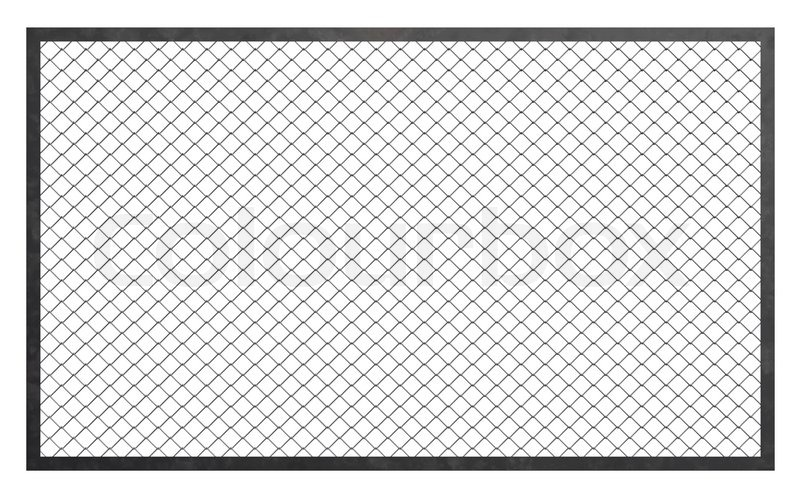 Stock image of 'Wire fence barrier on white background, 3d illustration'