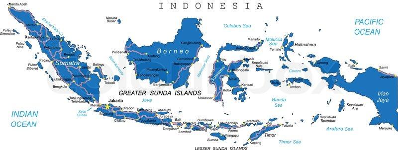 Indonesien Karte.Indonesien Karte Stock Vektor Colourbox