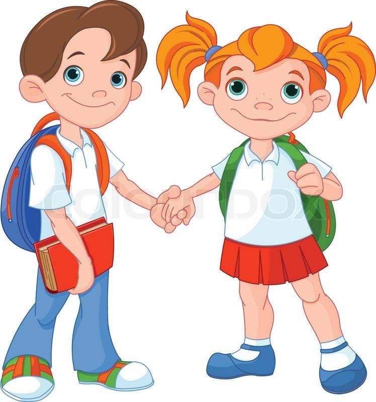Boy and girl - stock vector polkan 4557204