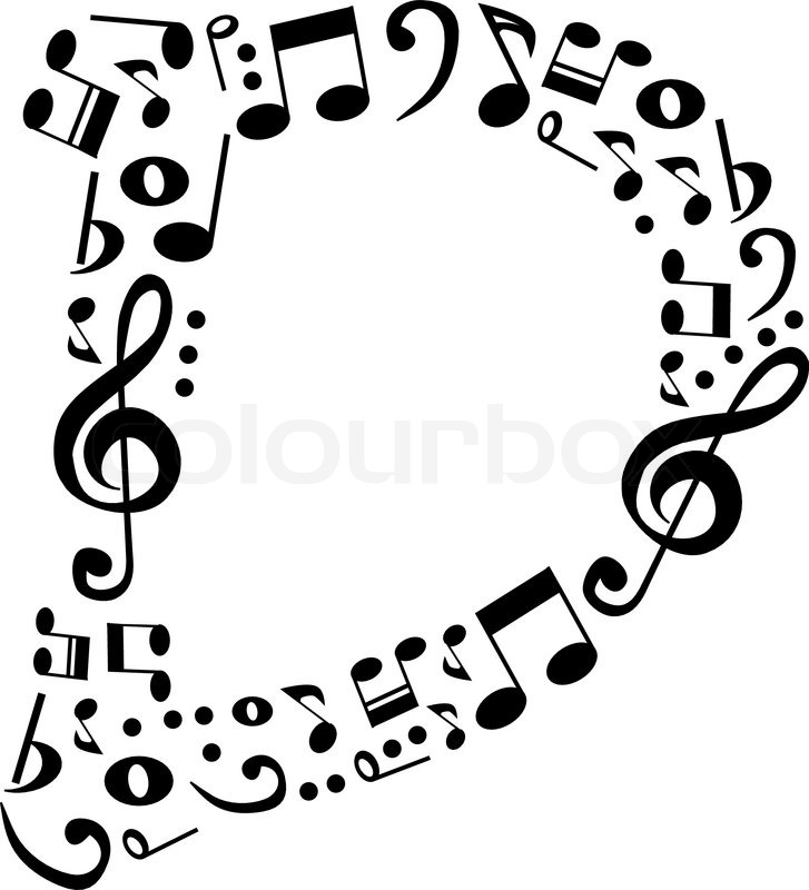 Abstract Vector Alphabet D Made From Music Notes Set Stock Colourbox
