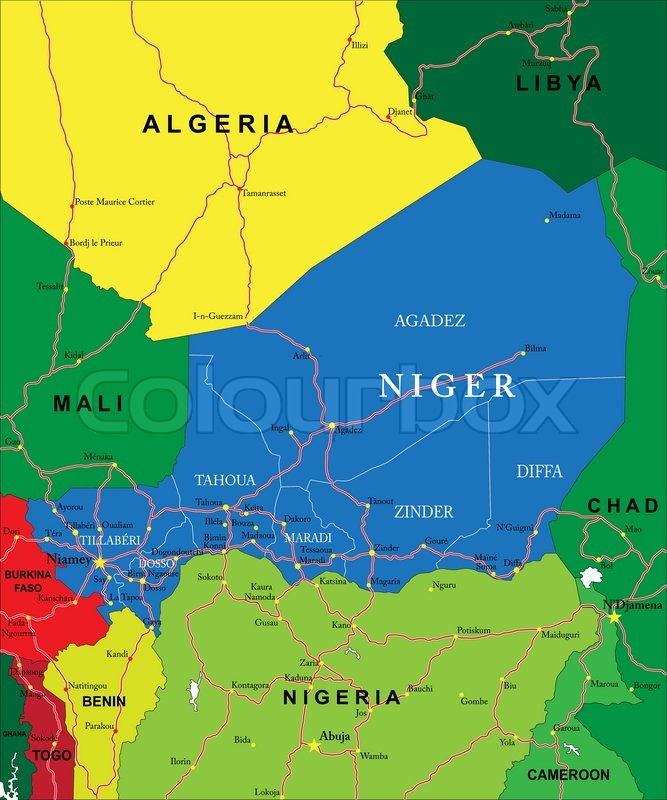 Image result for MAP OF NIGER