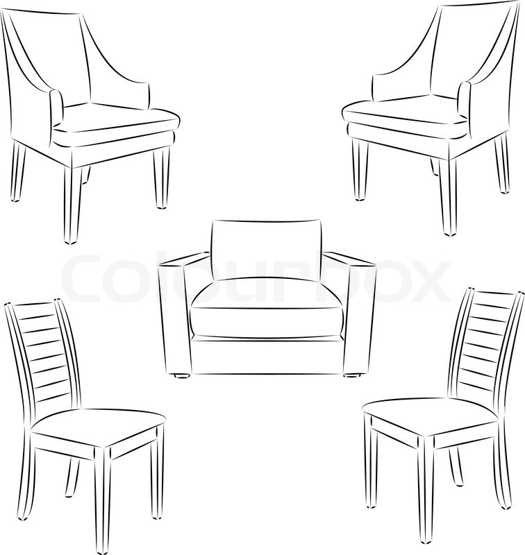 chair drawing. Brilliant Drawing Chair Icon Classic Chair Outline Contour Drawing Vector Illustration  Vector Inside Drawing