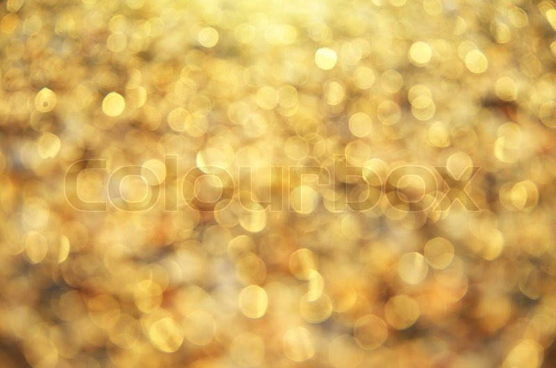 Gold bokeh background. Element of design, stock photo