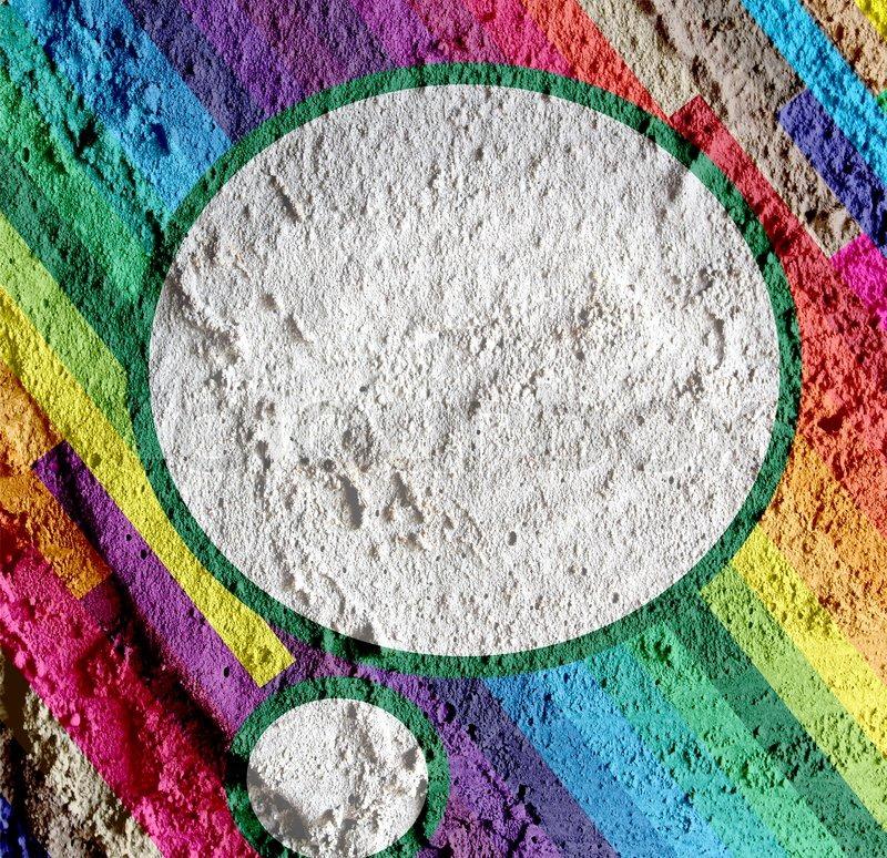 Speech bubble pop art on cement wall texture background for Cement art design