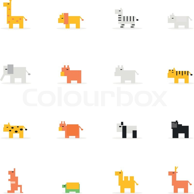Pixel Wildlife Animal Icon Vector Illustration Design