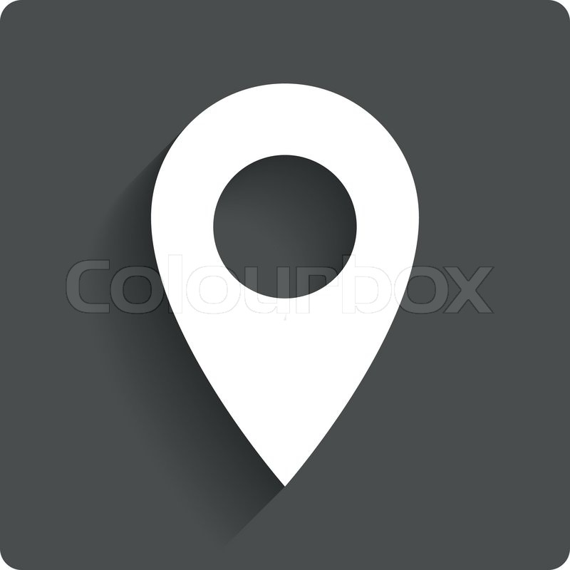 map pointer icon gps location symbol round stickers circle labels