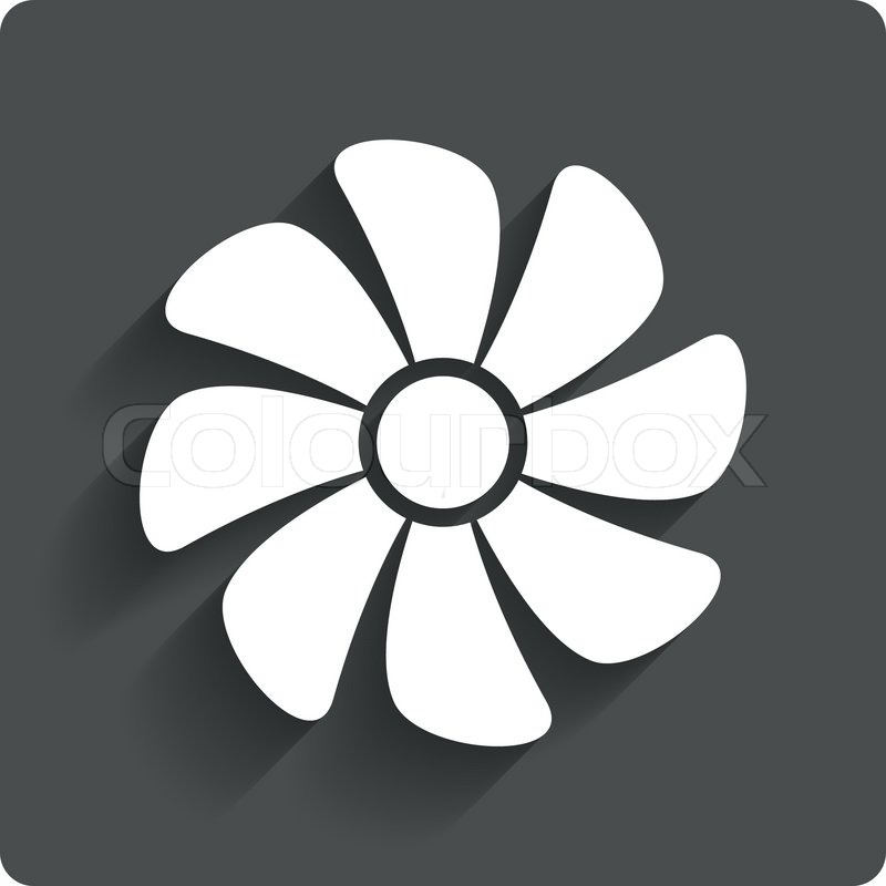 Ventilation Sign Icon Ventilator Symbol Gray Flat Button