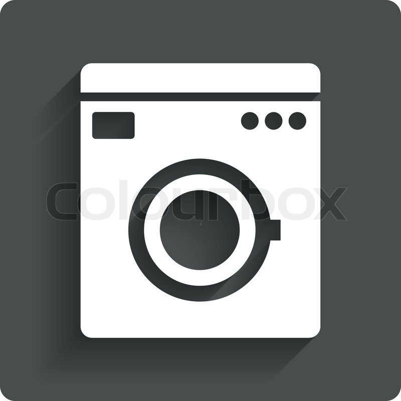 Waschmaschine Symbol. Haushaltsgeräte-Symbol. | Vektorgrafik | Colourbox