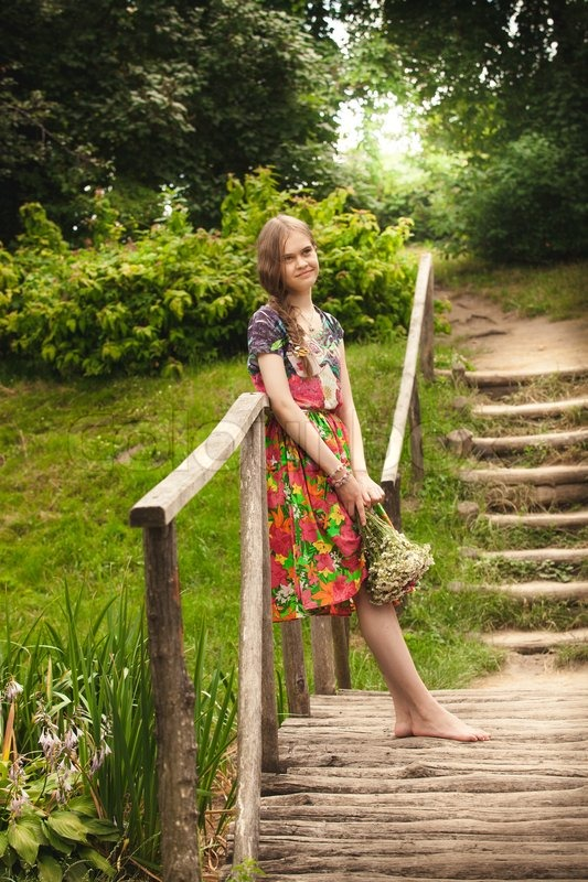 Beautiful Russian Country Girl With   Stock Photo -8517