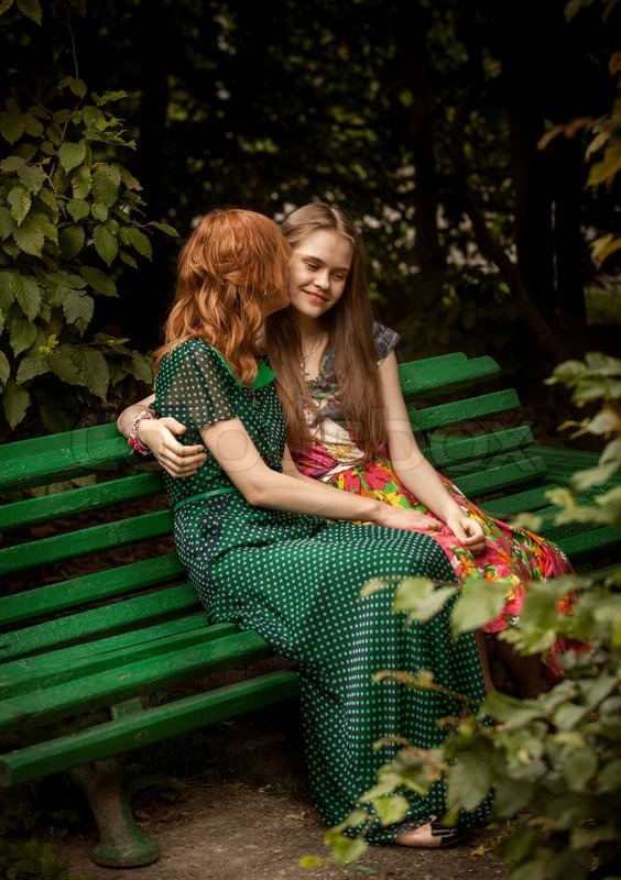 Redhead On Bench