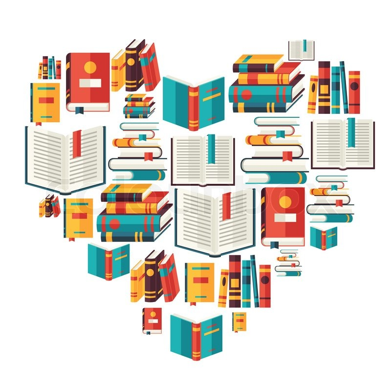 Education background with books in flat design style ...